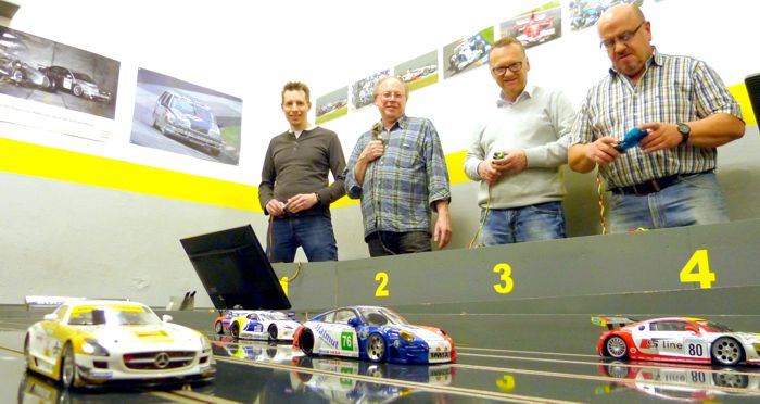 Slotracing beim 1. Stolberger Automodell-Club